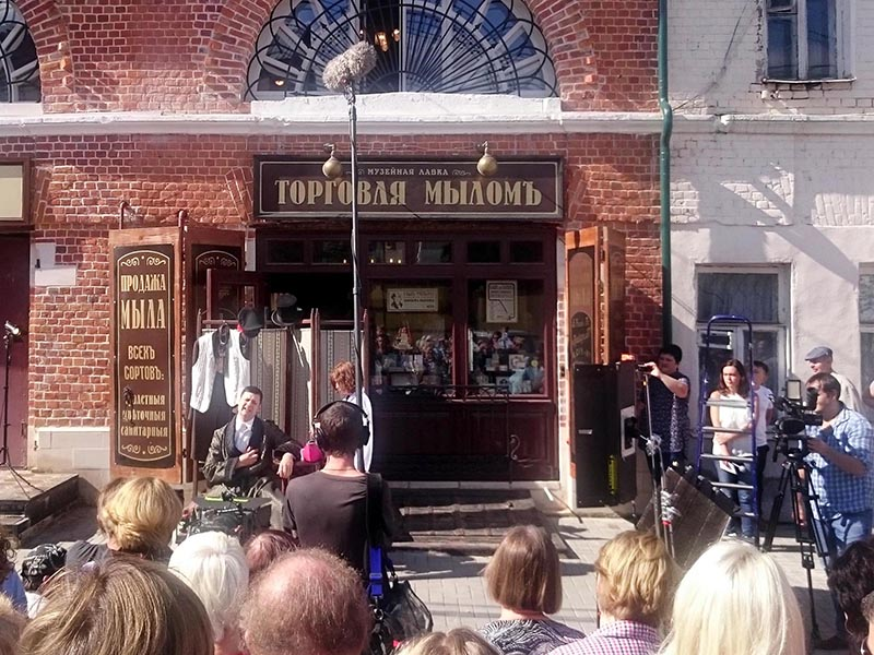 Съемки фильма в день открытия музея