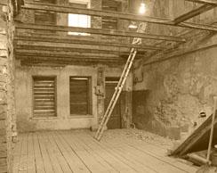 Руинированное здание будущего музея